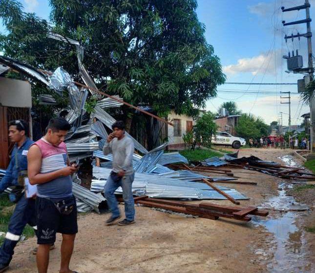Fenómeno inusual en Yurimaguas: más de medio centenar de viviendas afectadas por fuertes vientos