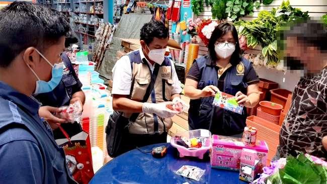 Fiscalía de prevención del delito realizó operativo contra la comercialización de productos tóxicos