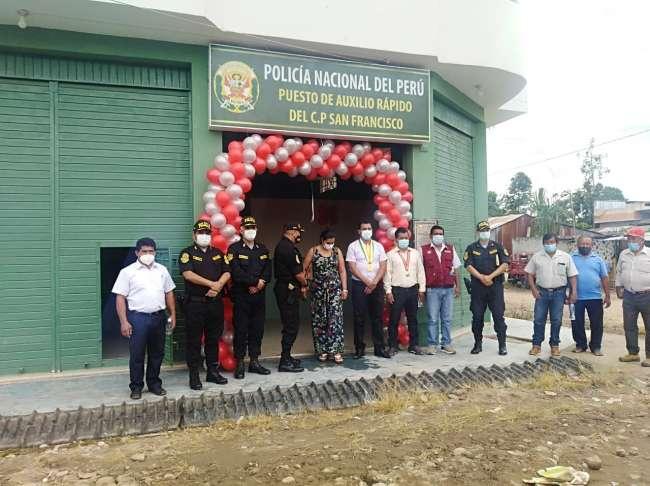 Inauguran puesto de auxilio rápido de la Policía Nacional en el Centro Poblado San Francisco de Awajun