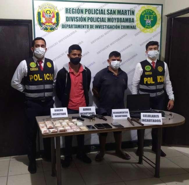Policía presenta a integrantes de banda de asaltantes