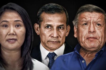 Keiko Fujimori, Ollanta Humala, y César Acuña encabezan el antivoto