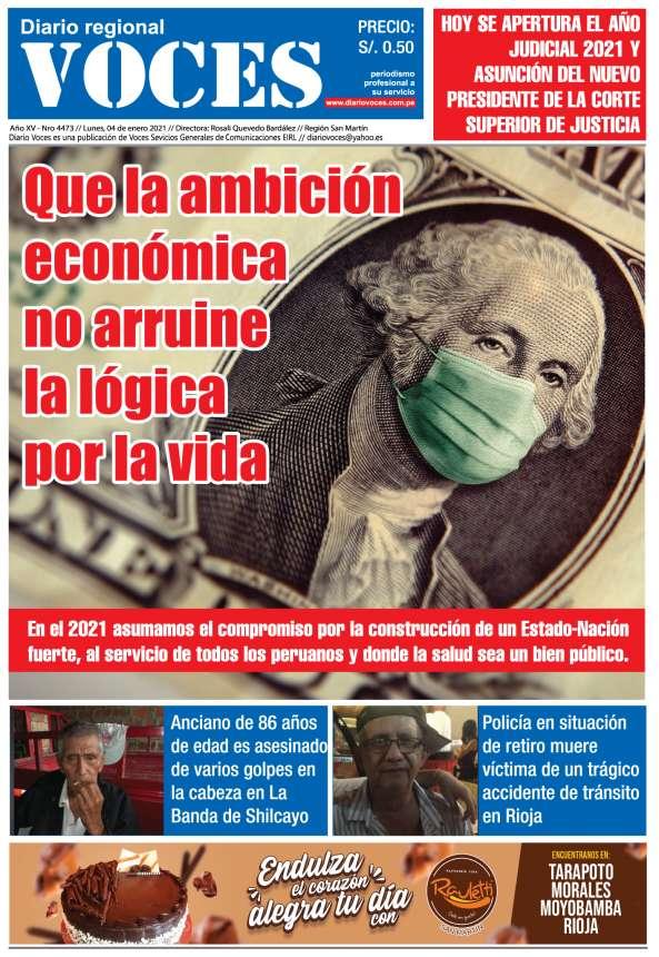 Diario Digital Lunes 04 de Enero del 2021