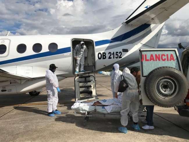 Más de 70 pacientes críticos fueron trasladados a hospitales de Lima durante el 2020