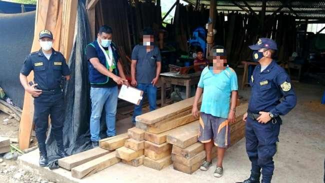 Fiscalía Ambiental incautó más de 2500 pies tablares de madera ilegal de diversas especies en tres días de operativos inopinados