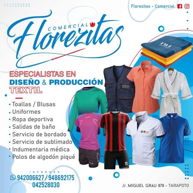 Avisos Clasificados: Comercial Florezitas Especialistas en Diseño y Produccion Textil