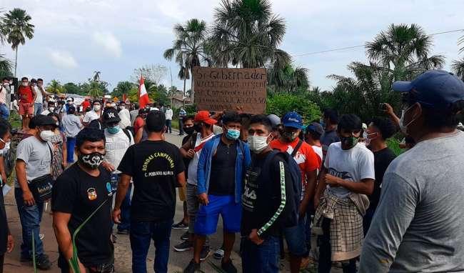 Habitantes del Centro Poblado de Alianza bloquean carretera Tarapoto – Yurimaguas