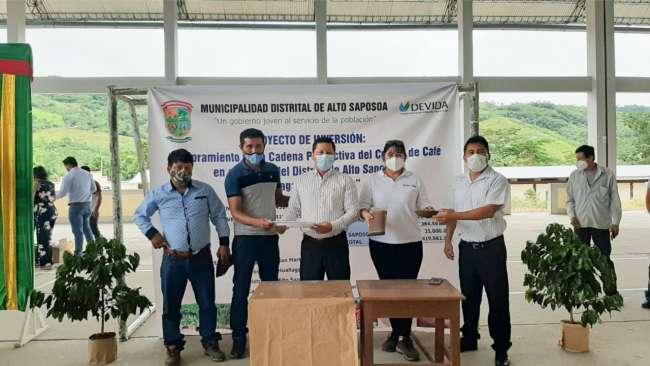 San Martín: Inician proyecto de café con más de dos millones de soles en Alto Saposoa