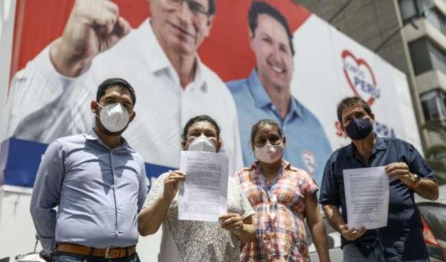 Piden a Somos Perú retirar a Vizcarra y Salaverry de elecciones 2021