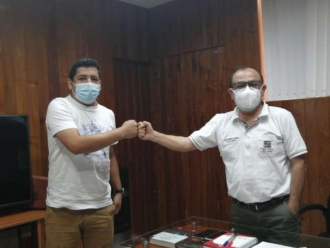 Presidente de la Corte de San Martín recibe a trabajador que sufrió accidente Carlos Alfonso Ocampo Benites