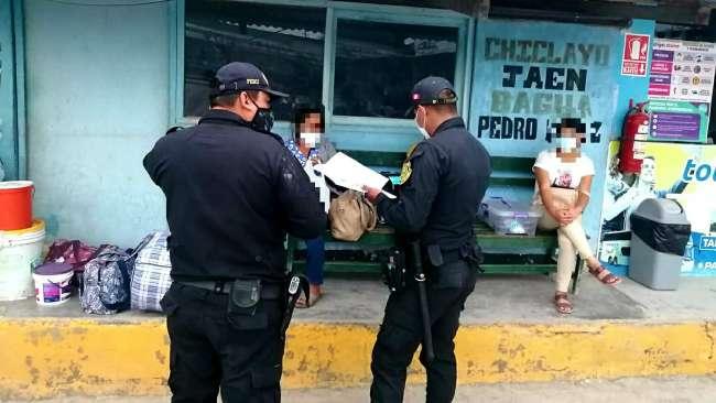 Fiscalía Provincial de Prevención del Delito de Moyobamba realizó acciones preventivas contra la trata de personas en terminal terrestre