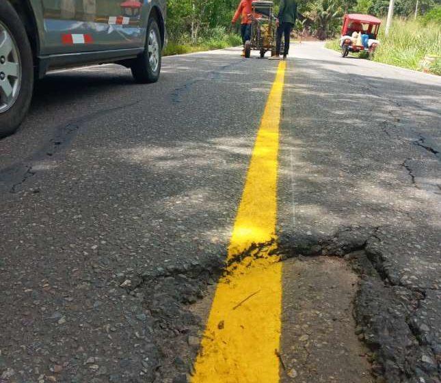 El lamentable estado de las carreteras de acceso a Lamas