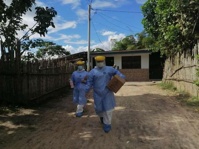 Brigadas iniciaron búsqueda activa de casos sospechosos de Covid 19 en Moyobamba