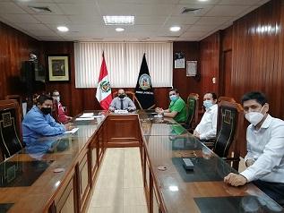 Presidente de la corte de San Martín sostuvo reunión de trabajo con jueces penales unipersonales de Moyobamba