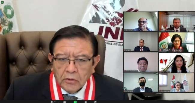Titulares del JNE, ONPE y RENIEC intensifican coordinaciones por cercanía de EG-2021