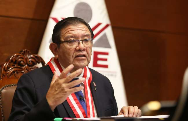 Titular del JNE invoca a ciudadanía a seguir debate presidencial que inicia hoy