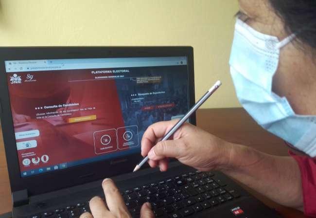 Plataforma electoral del JNE registra  más de 2 millones de visitas
