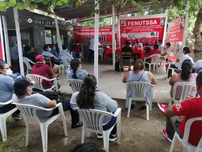 Sindicalistas del sector Salud exigen pago de bono Covid y esclarecer  presuntos actos de corrupción