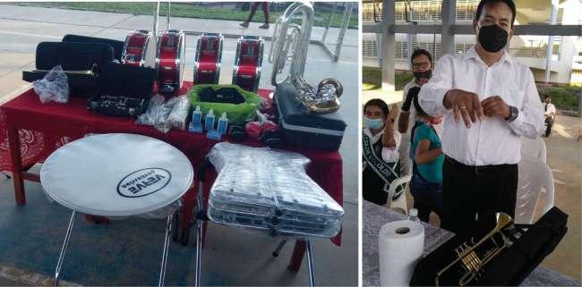 Colegio Francisco Izquierdo recibe instrumentos para ampliar banda de música
