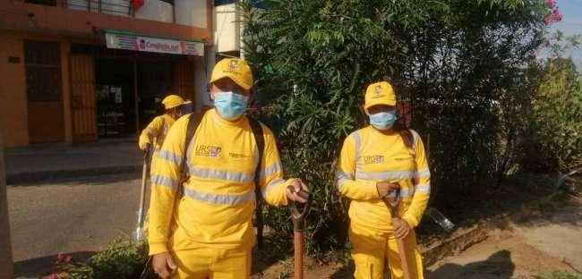 Personal de limpieza de la MPSM se encuentra debidamente equipado