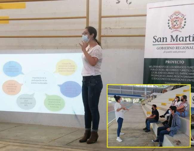 Estudiantes de Turismo brindan soporte en el Plan de desarrollo turístico de Lamas