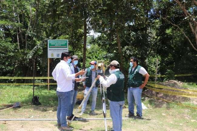 Inician trabajos topográficos para dotar de agua potable al hospital rural de Picota