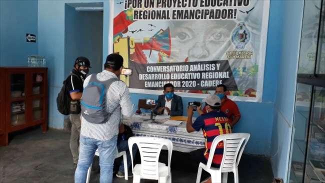 Sindicalistas del SUTEP no aceptan reinicio de clases presenciales en la región