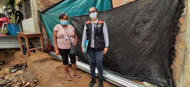 MPSM apoya a damnificados producto de torrencial lluvia