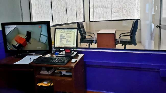 POR INICIATIVA DE TRABAJADORES MINISTERIO PÚBLICO IMPLEMENTÓ NUEVA CÁMARA GESELL PROVISIONAL EN YURIMAGUAS