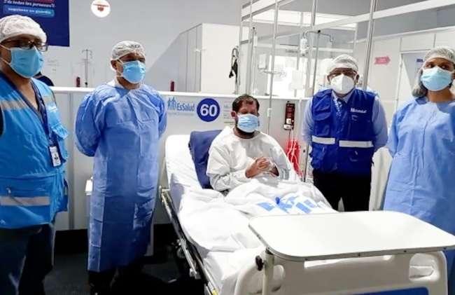 Sacerdote Juan López se recupera favorablemente de la Covid-19 tras recibir atención en Villa EsSalud Huánuco