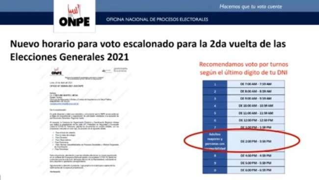 Jefe de la ONPE anuncia cambios en voto escalonado para segunda vuelta