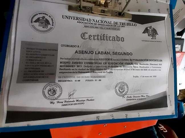 Dictan prisión a Director de un Instituto en Moyobamba por ofrecer títulos  y grados falsos