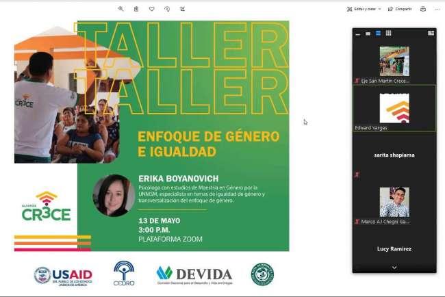 """ALIANZA CRECE DE CEDRO ABORDÓ LA IMPORTANCIA DEL """"GÉNERO E IGUALDAD"""" EN TALLER PARTICIPATIVO PARA LA AMAZONÍA"""