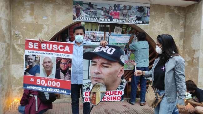 Amigos y familiares de las víctimas del doble crimen de Tarapoto realizan vigilia