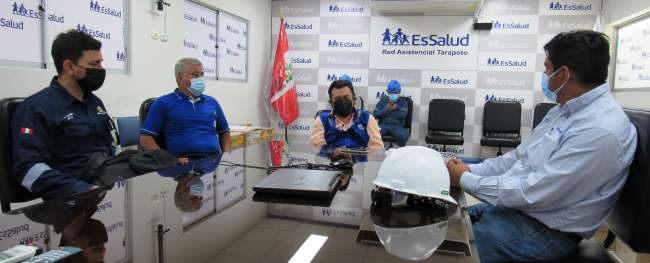 Electro Oriente supervisa instalaciones eléctricas internas del Hospital EsSalud Tarapoto