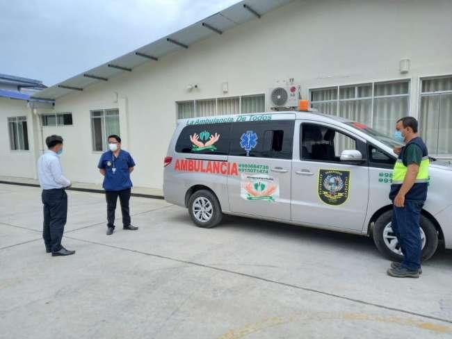 MPSM pone a disposición ambulancia municipal a hospital de La Banda de Shilcayo