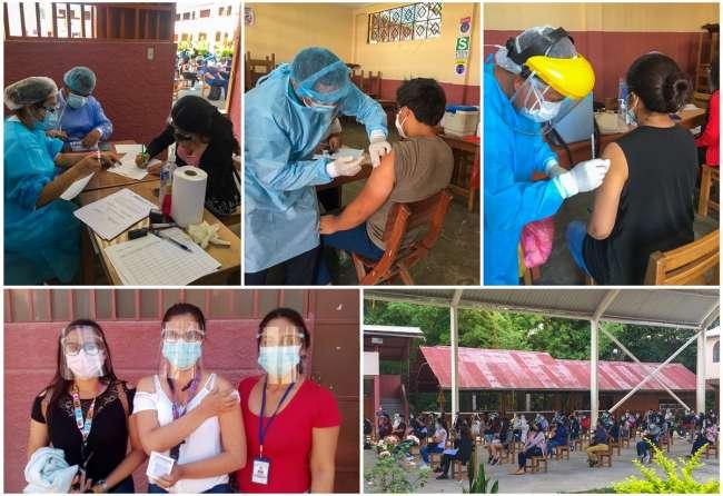 Estudiantes de la carrera de Medicina de la UNSM fueron vacunados contra la Covid – 19 para realizar su internado