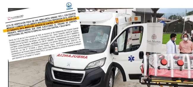 """Sobre la adquisición de ambulancia fiscalía anticorrupción """"Existe dilación en el proceso de los involucrados y las limitaciones administrativas de la pandemia"""""""