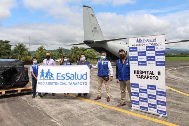 EsSalud envía de Lima a Tarapoto planta generadora de oxígeno para reforzar la lucha contra el Covid-19