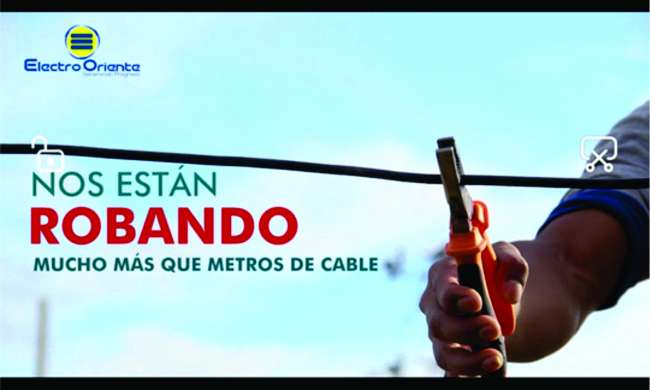 """""""El hurto de la energía y el robo de cables energizados se sanciona con cárcel efectiva. evitemos esta mala práctica en San Martín"""""""