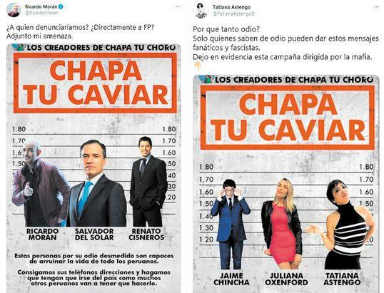 Fiscalía investiga a fujimoristas detrás de la campaña Chapa tu caviar