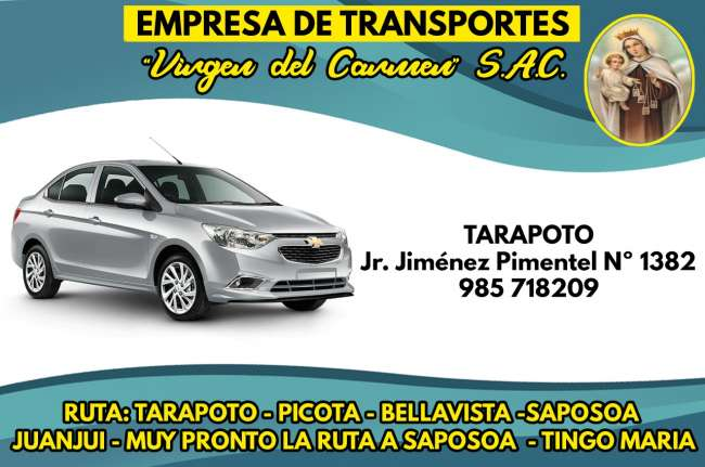 Avisos Clasificados: Empresa de Transportes Virgen del Carmen S.A.C