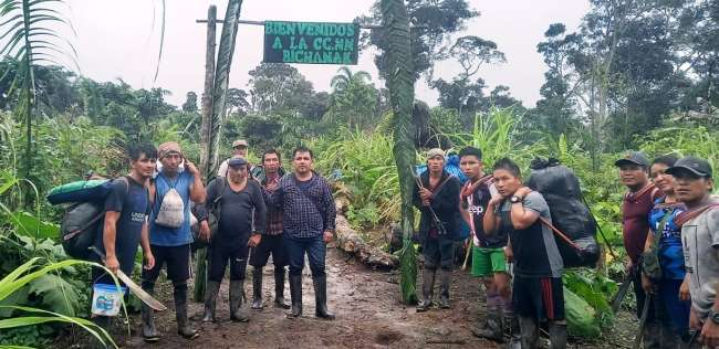 Expedicionarios de Balsapuerto dirigidos por su alcalde logran travesía hasta Moyobamba