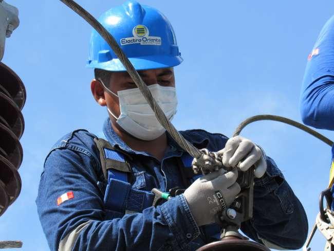 Electro Oriente, trabaja para reforzar Sub Estación de Potencia en Moyobamba.