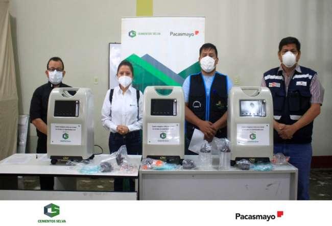 Cementos Selva dona equipos de protección personal al Centro de Salud de Segunda Jerusalén
