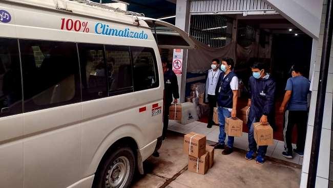 Moyobamba: Fiscalía de Prevención del Delito participó en despliegue de material electoral para locales de votación en Lamas