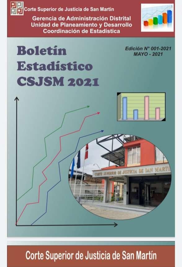 CORTE DE SAN MARTÍN PONE A DISPOSICIÓN EL BOLETÍN ESTADÍSTICO INSTITUCIONAL 2021