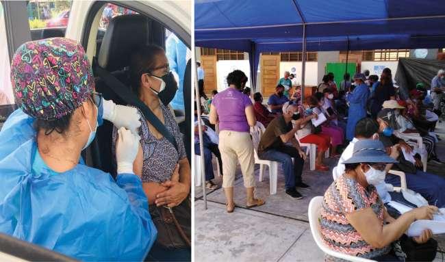 EsSalud Tarapoto continúa inmunizando contra el Covid-19 a los adultos mayores