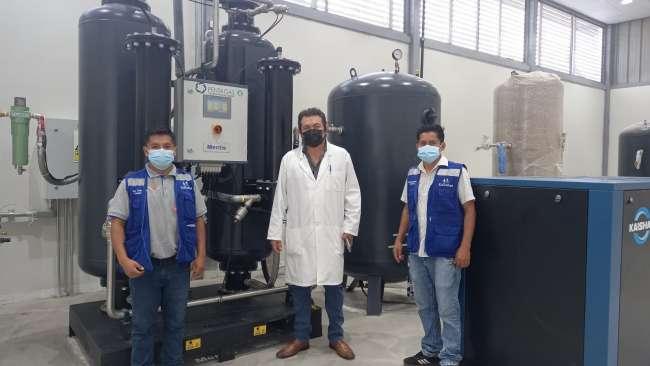 ESSALUD Tarapoto realiza últimas pruebas para dejar al 100% operativa nueva planta de oxígeno
