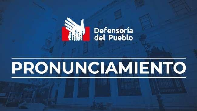 La Defensoría del Pueblo invoca a PERÚ LIBRE Y FUERZA POPULAR a guardar la calma y evitar actos de violencia