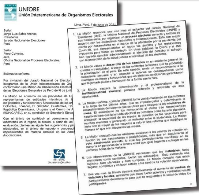 """ELECCIONES FUERON ORGANIZADAS DE MANERA CORRECTA Y EXITOSA"""", señala Misión de Observación Electoral"""